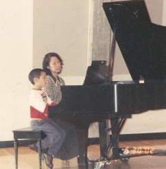 Levi at the piano, age 8
